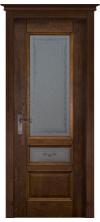 Межкомнатная дверь Аристократ №3 со стеклом Античный орех с наплавом 3