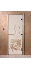 Дверь для бани и сауны Банька сатин