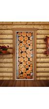 Дверь для бани и сауны Престиж Фотопечать А043