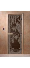 Дверь для бани и сауны Березка черный жемчуг