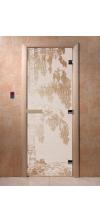Дверь для бани и сауны Береза сатин