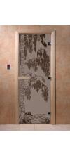 Дверь для бани и сауны Береза черный жемчуг матовая