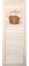 Дверь для бани и сауны «С легким паром!»
