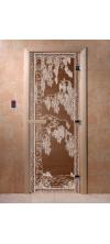 Дверь для бани и сауны Березка бронза