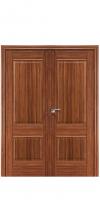 Двустворчатая дверь 1 Х ДГ орех-амари