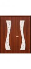 Двустворчатая дверь 11 Х ДО(ф) итальянский орех