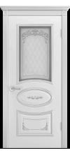 Дверь эмаль Ария B3 Грейс 2 ДО белый