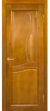 Межкомнатная дверь массив ольхи Верона ДГ медовый орех