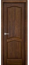 Межкомнатная дверь массив ольхи ОКА Лео ДГ античный орех