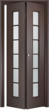 Складная дверь Лесенка ДО венге