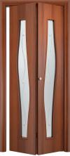 Складная дверь Волна ДО итальянский орех