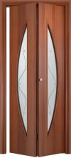 Складная дверь Парус ДО итальянский орех