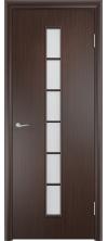 Межкомнатная дверь Лесенка со стеклом венге