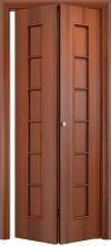 Складная дверь Лесенка ДГ итальянский орех