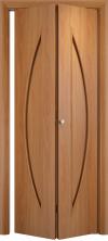 Складная дверь Парус ДГ миланский орех