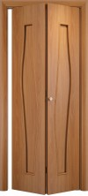 Складная дверь Волна ДГ миланский орех
