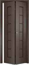 Складная дверь Лесенка ДГ венге