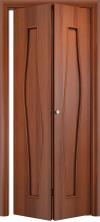 Складная дверь Волна ДГ итальянский орех