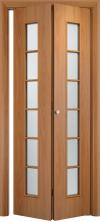 Складная дверь Лесенка ДО миланский орех