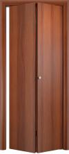 Складная дверь Гладкая ДГ итальянский орех