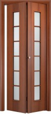 Складная дверь Лесенка ДО итальянский орех