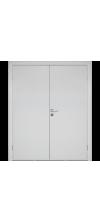 Влагостойкая дверь ПВХ Etadoor ДГ Белый двустворчатая