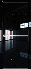 Дверь Профиль Дорс 11LK AL кромка с 4х сторон Черный люкс глухая