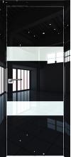 Дверь Профиль Дорс 34LK AL кромка с 4х сторон Черный люкс со стеклом
