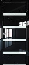Дверь Профиль Дорс 26LK AL кромка с 4х сторон Черный люкс со стеклом