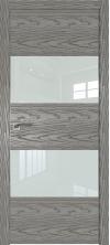 Дверь Профиль Дорс 10NK AL кромка с 4х сторон Дуб скай деним со стеклом