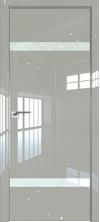 Дверь Профиль Дорс 3LK AL кромка с 4х сторон Галька люкс со стеклом