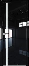 Дверь Профиль Дорс 22LK ABS кромка с 4х сторон Черный люкс со стеклом