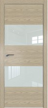 Дверь Профиль Дорс 10NK AL кромка с 4х сторон Дуб скай крем со стеклом