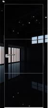 Дверь Профиль Дорс 2LK AL кромка с 4х сторон Черный люкс глухая