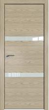 Дверь Профиль Дорс 30NK AL кромка с 4х сторон Дуб скай крем со стеклом