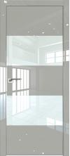 Дверь Профиль Дорс 10LK AL кромка с 4х сторон Галька люкс со стеклом