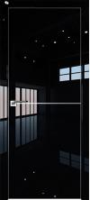 Дверь Профиль Дорс 12LK AL кромка с 4х сторон Черный люкс глухая