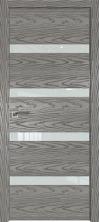 Дверь Профиль Дорс 26NK AL кромка с 4х сторон Дуб скай деним со стеклом