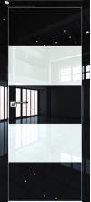 Дверь Профиль Дорс 10LK AL кромка с 4х сторон Черный люкс со стеклом