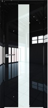 Дверь Профиль Дорс 25LK ABS кромка с 4х сторон Черный люкс со стеклом
