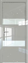 Дверь Профиль Дорс 34LK AL кромка с 4х сторон Галька люкс со стеклом