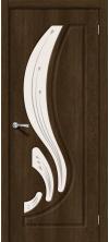 Дверь межкомнатная Лотос-2 Dark Barnwood Art Glass