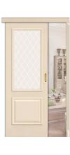 Раздвижная дверь купе Классико 13 со стеклом Ivory