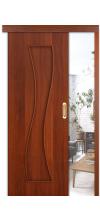Раздвижная дверь купе 11х глухая итальянский орех