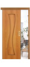 Раздвижная дверь купе 11х глухая миланский орех