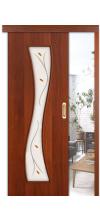 Раздвижная дверь купе 11х со стеклом итальянский орех
