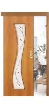 Раздвижная дверь купе 11х со стеклом миланский орех