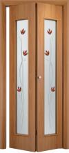 Складная дверь 22 Х ДО миланский орех