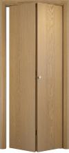 Складная дверь Гладкая ДГ беленый дуб