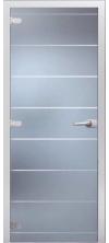Стеклянная дверь Осака матовое с фрезеровкой